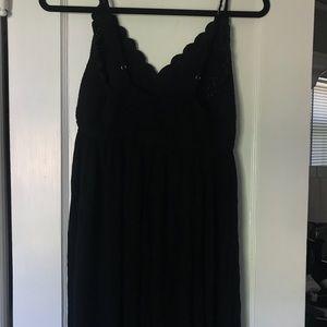 Knitted black maxi dress